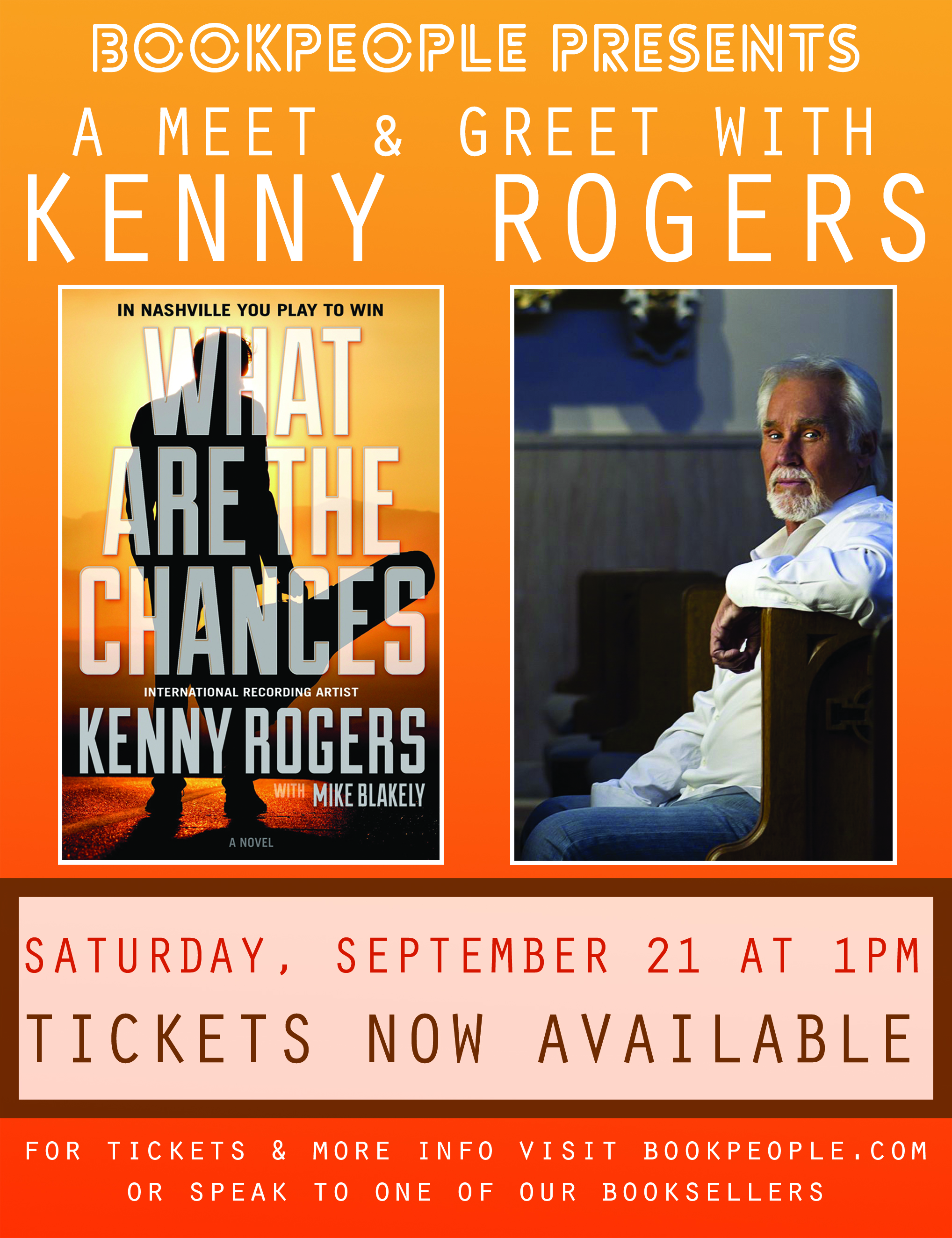 Kenny rogers is coming to bookpeople bookpeople m4hsunfo