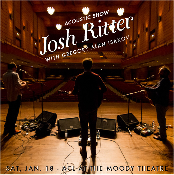 Josh Ritter Ticket Giveaway Bookpeople