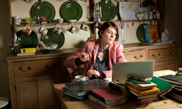 Writer Joanna Kavenna at home near Oxford