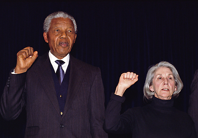 Nelson Mandela and Nadine Gordimer Sing Anthem