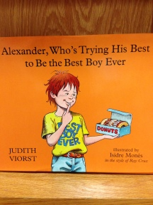 Judith Viorst's Alexander is back for a new story.