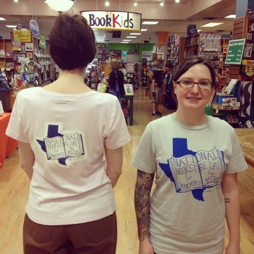 A homemade National Bookstore Day for the BookPeople Nation t-shirt!
