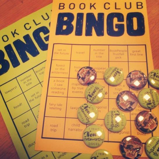 book club bingo