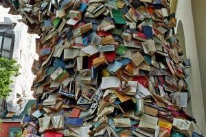 Toppling-books