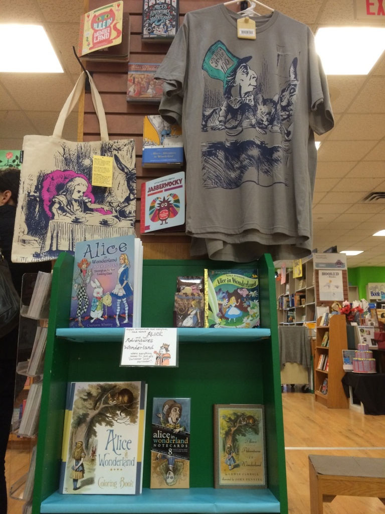 Alice gift display in the Book Kids section!