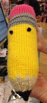 Merrilee's arthur knitted pencil