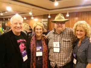Joe Lansdale, Terry shames, Tricia fielding and Scott M.