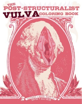 The Post-Structuralist Vulva Coloring Book demystifies gender and pleasantly confuses your assumptions as you are drawn into its mesmerizing bricolage of patterns, folds, and whorls. Color away the false binaries between male and female, words and text, inside and outside, art and nature. As you meditate on the sameness and difference of the vulvas on each page, you will grow to question your interpellation into dominant systems of knowledge. By overwhelming the senses with vulvas, you will interrogate the meaning and very existence of this social construct we call the vulva and the instructions for living that come with it. Quotations from post-structuralist philosophers, from Foucault to Derrida, Lyotard to Kristeva, accompany the art, and can be colored and even edited into new constructs and timely critiques of the patriarchy. No longer must vulvas be either crudely objectified or shrouded in mystery All hail the vulva The vulva hails you .