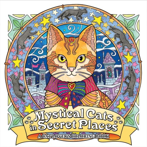 """""""Mystical Cats in Secret Places: A Cat Lover's Coloring Book"""" offers hours of coloring fun and relaxation, featuring detailed artwork of loveable cats surrounded by enchanting scenery, eye-catching ornaments, and friendly creatures. Honoel's vibrant illustrations reveal more surprises upon every viewing, and are just waiting to be colored, making Mystical Cats an unforgettable treat for any cat lover."""