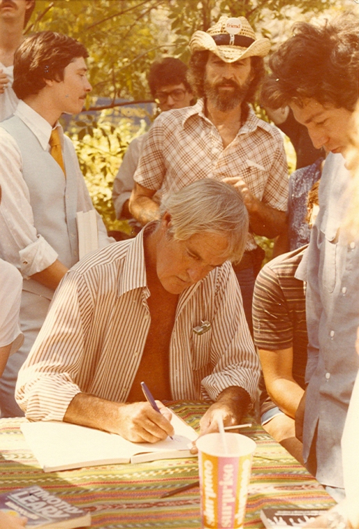Dr. Timothy Leary signing at Grok Books
