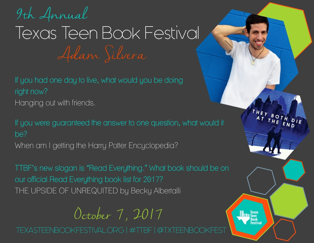 TTBF Author Interview Adam Silvera